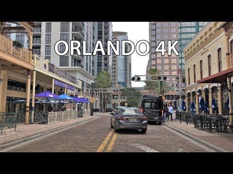 Driving Downtown - Orlando 4K - Florida USA