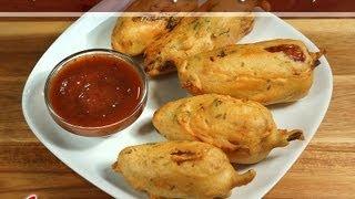 Mirchi Vada (Chili Fritters) Vegetarian Snack by Manjula