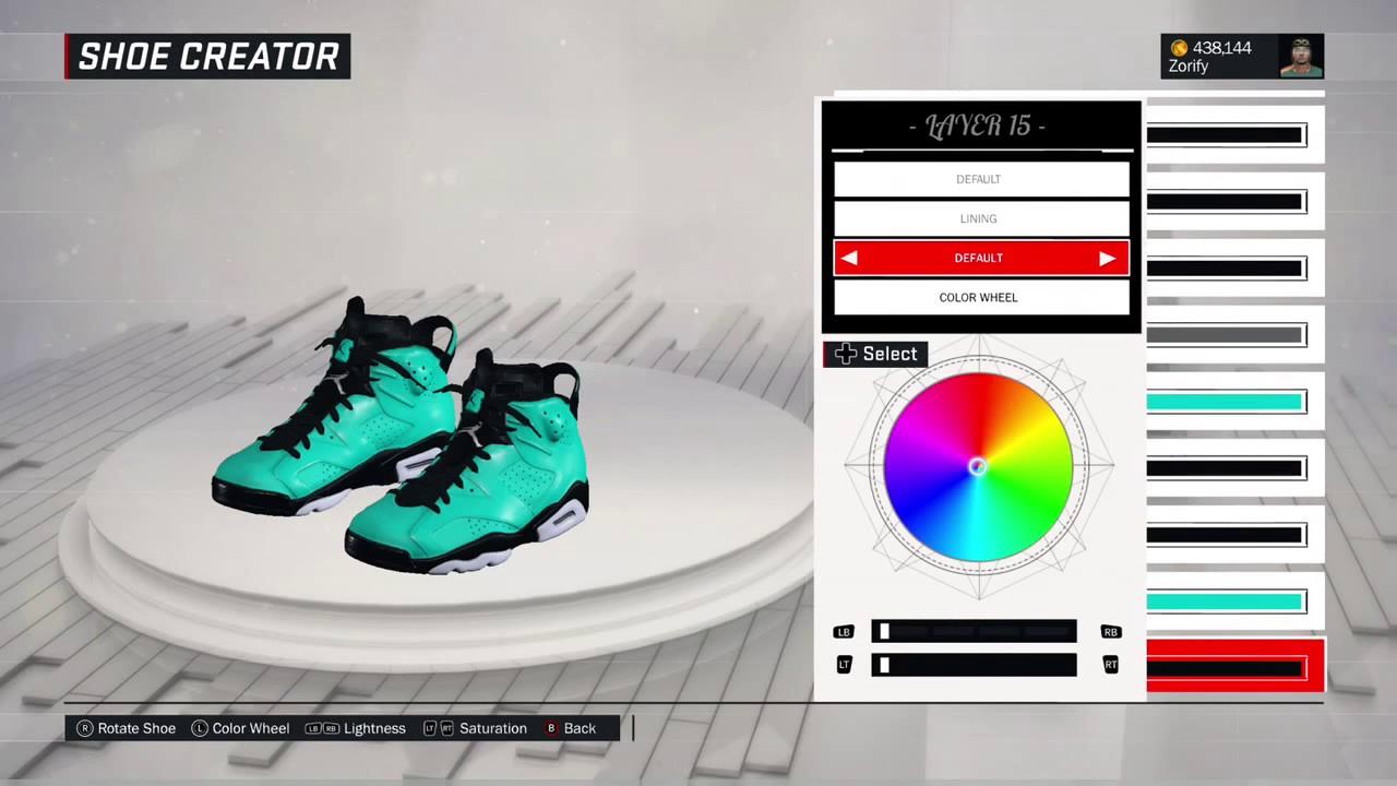 big sale fdb71 92bc2 NBA 2K17 Shoe Creator - Air Jordan 6 Custom