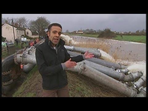 Somerset battles extreme flooding