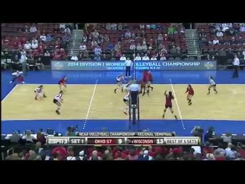 Wisconsin vs Ohio St. Reg. Semi's NCAA Volleyball 2014 [Set 1]