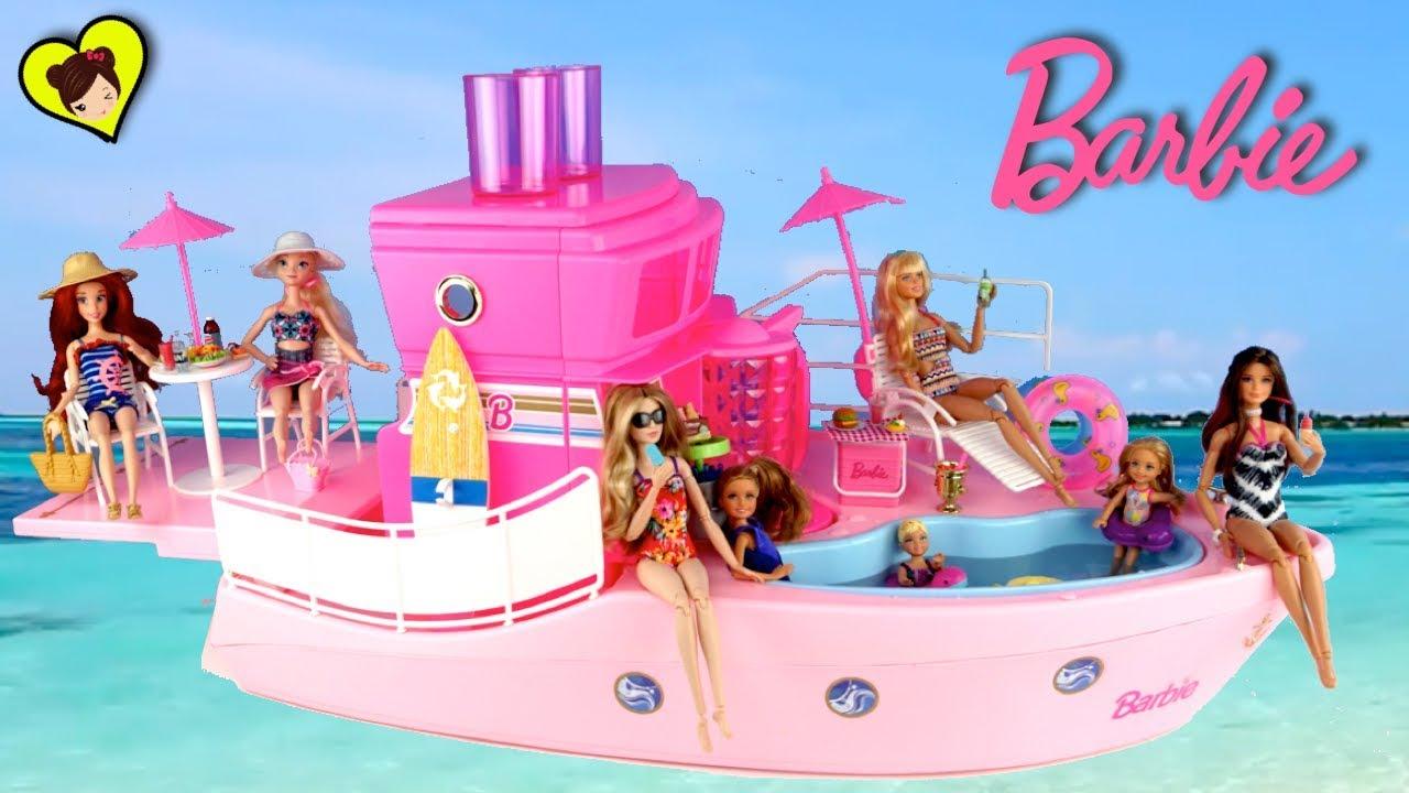 Barco de barbie y crucero con piscina los juguetes de for Juguetes de piscina