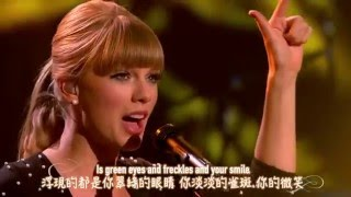 ★ Everything has changed《一切都不同了》- Taylor Swift ft. Ed Sheeran 現場版中文字幕★