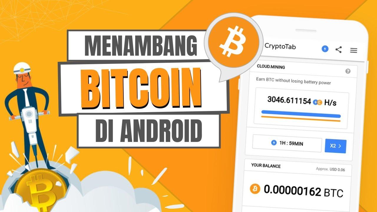 cara menambang bitcoin di android