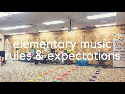 ELEMENTARY MUSIC RULES & EXPECTATIONS // first day of music class