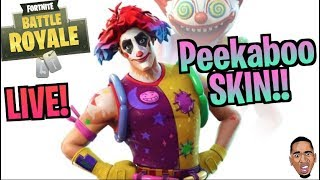 Fortnite Live Stream w/ imDontai New PEEKABOO Skin!