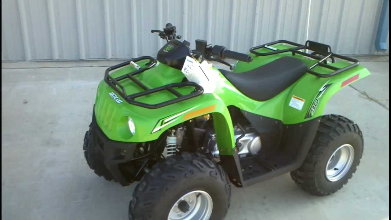 Review 2012 Arctic Cat 90 Youth Atv With Reverse Youtube