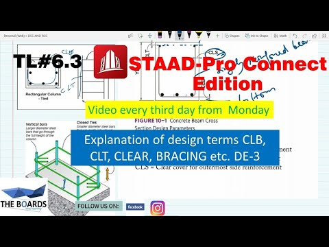 Explanation Of Various Design Terms Like Clb, Clt Etc DE-3 In #STAAD.Pro Connect Edition (6.3)
