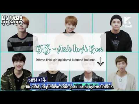 [TR] ASK IN A BOX - BTS (방탄소년단) Blood Sweat & Tears