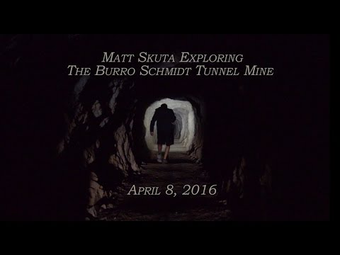 Exploring the Burro Schmidt Tunnel Mine (4K- Ultra HD)