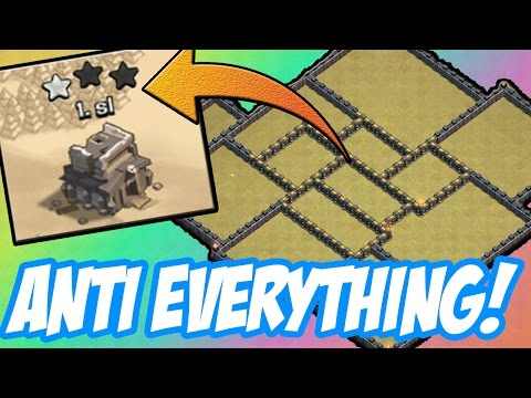 NEW TOWN HALL 9 ANTI EVERYTHING WAR BASE! - ANTI VALKYRIES, ANTI HOGS - Clash Of Clans
