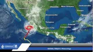 Aviso tormenta tropical Bud con información de las 7:00 pm