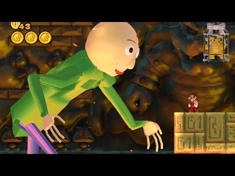 Baldi in New Super Mario Bros. Wii