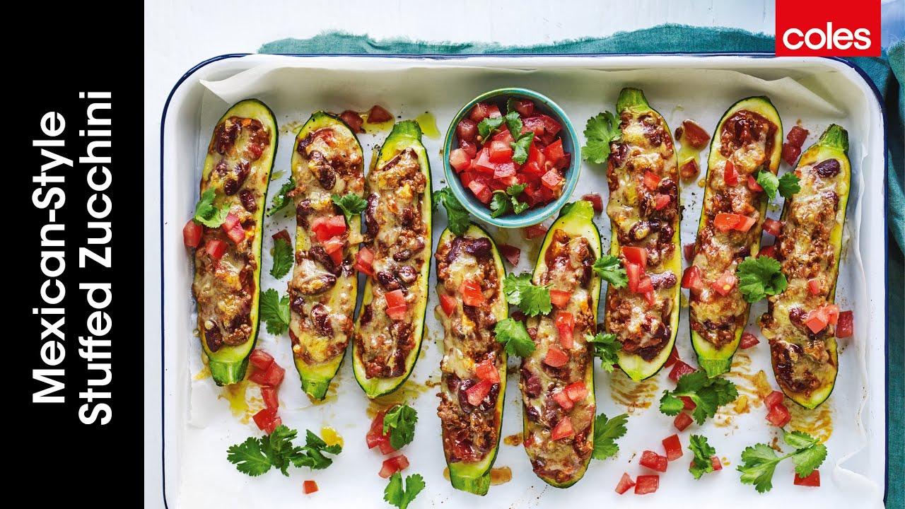 Mexican-Style Stuffed Zucchini