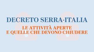 Coronavirus, Il Decreto Serra-italia - Le Attività Che Restano Aperte E Quelle Che Chiudono