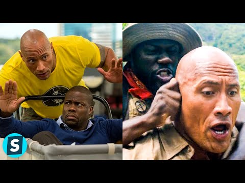Dwayne The Rock Johnson And Kevin Hart - Funniest Bloopers