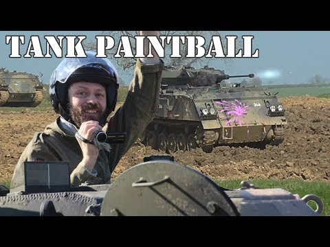 Paintballing in tanks!