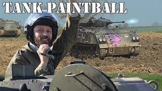 Paintballing in tanks!