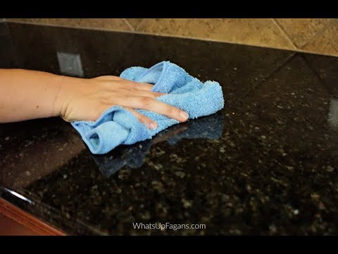 How to Clean Granite Countertops so they SPARKLE!