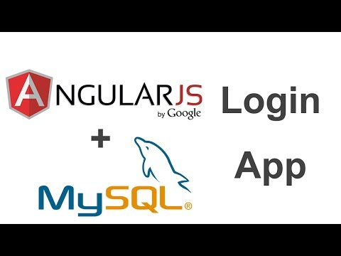 AngularJS + MySQL Login App - Part 1
