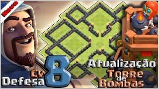 Layout Cv8 de Defesa com a Torre de Bombas