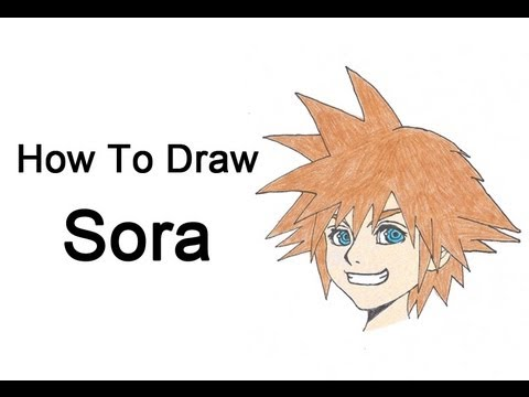How To Draw Sora Kingdom Hearts Youtube