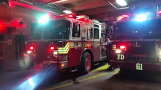 FDNY Engine 66 and 61 respond to Box 8998