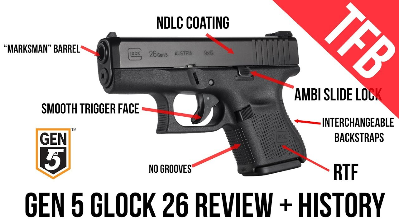 The NEW Gen 5 Glock 26 Full Review and Version History