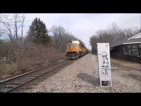Union Pacific Train hits car in Louisville Kentucky