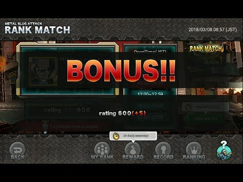 Metal Slug Attack - RANK MATCH [RANGO PLATINO] / BATALLAS ONLINE.