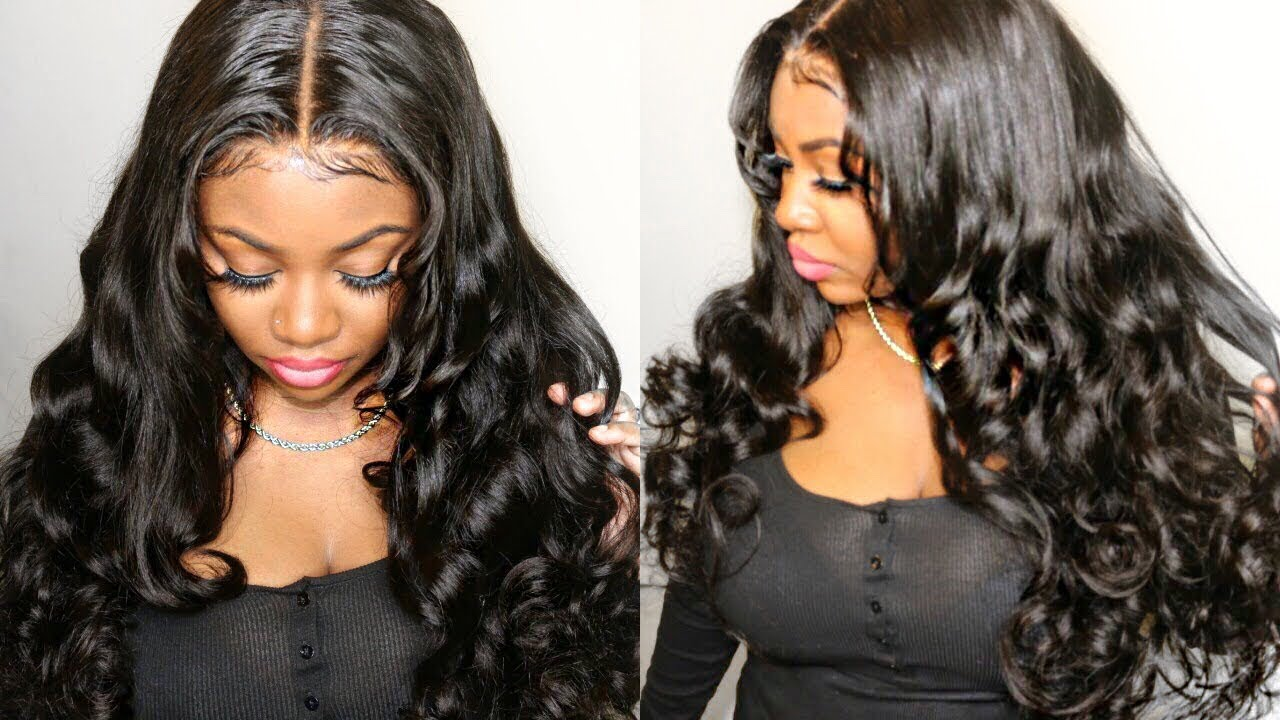 PrePlucked Body Wave 360 Lace Wig  b265a011cf53
