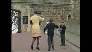 Princess Diana at Easter service 1992
