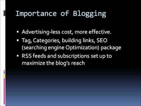 Importance of Blogging.wmv