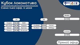 Пляжный футбол. Кубок Локомотива 2018. Плей-офф (прямо эфир)