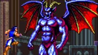 Castlevania Dracula X (SNES) All Bosses (No Damage)