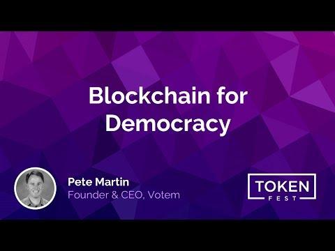 Pete Martin - Blockchain for Democracy