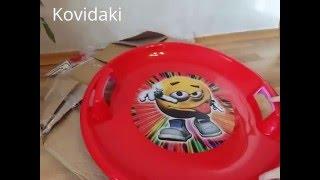 Тарелка ледянка для горки видео обзор
