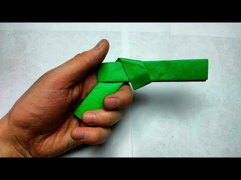 HOW TO MAKE A PAPER POCKET  MINI GUN THAT DOES NOT SHOOT PAPER BULLETS EASY PAPER WEAPON TUTORIALS