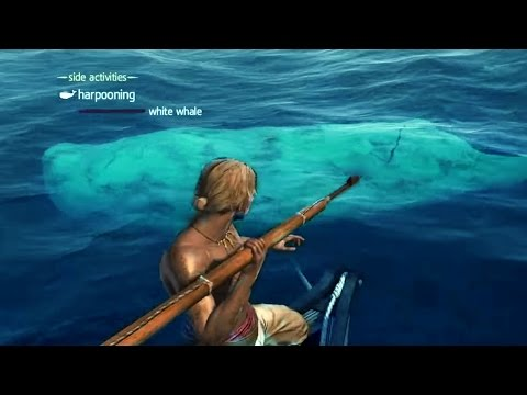HUNTING WHALES!!! ALL Assassin's Creed Harpoon Hunts Including The White Whale/Moby Dick!!!