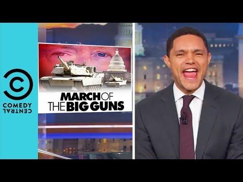 "Donald Trump's ""Cheesy"" Military Parade | The Daily Show"