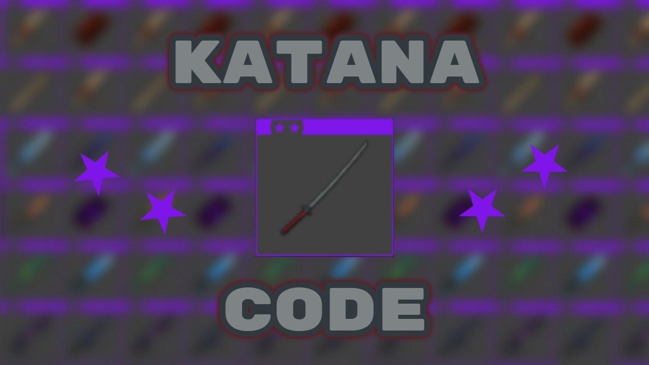 katana code roblox knife capsules  youtube