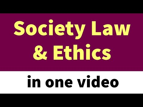 Society law & Ethics | CBSE | in one video