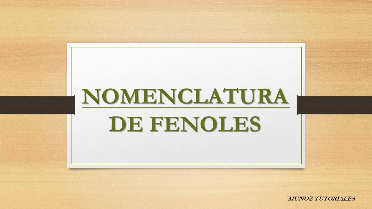 Nomenclatura de los fenoles yahoo dating