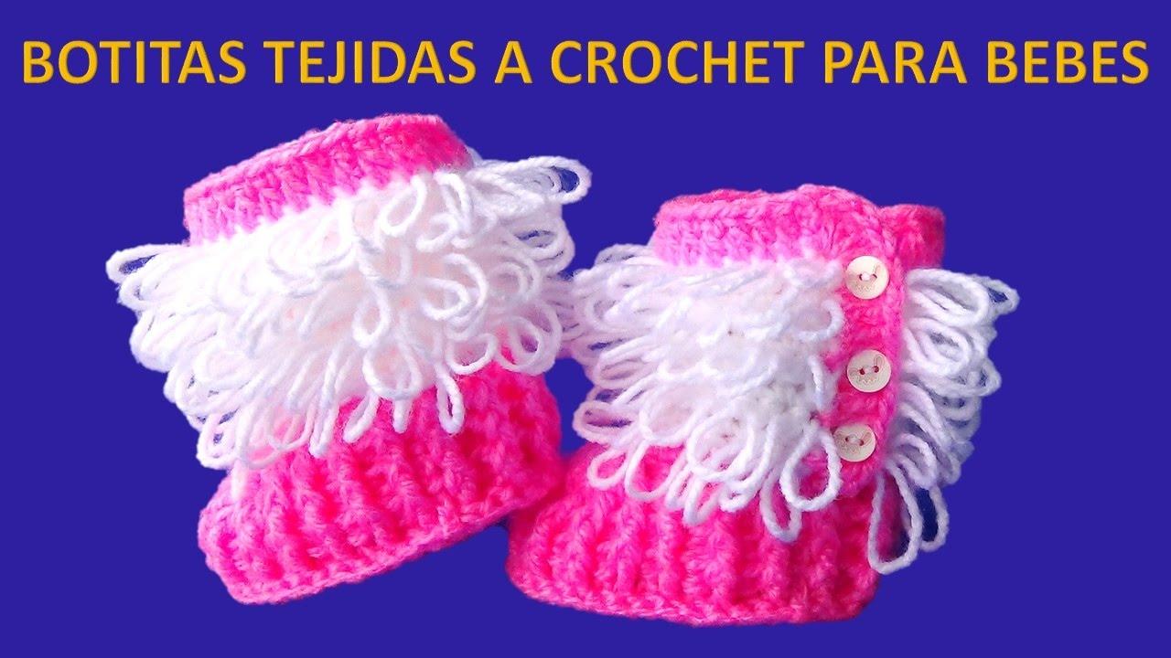 30a8681a Botitas tejidas a crochet paso a paso para bebe de 0 a 6 meses en punto  Bucle y Relieves
