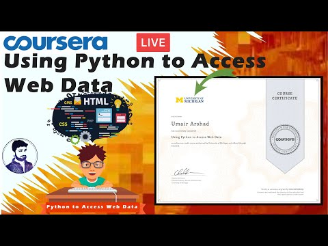 Coursera: Using Python To Access Web Data All Assignments And Quizzes Solved Live