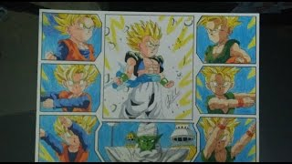 DRAGON BALL Z HOW TO DRAW GOTENKS GOTEN TRUNKS DRAWING DIBUJO 図 ゴテンクス