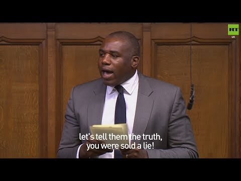 "David Lammy: ""Leave supporters, you were sold a lie!"""