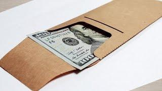 Конверт из Крафт-бумаги! Лазерная резка крафт-бумаги. Конверт своими руками!