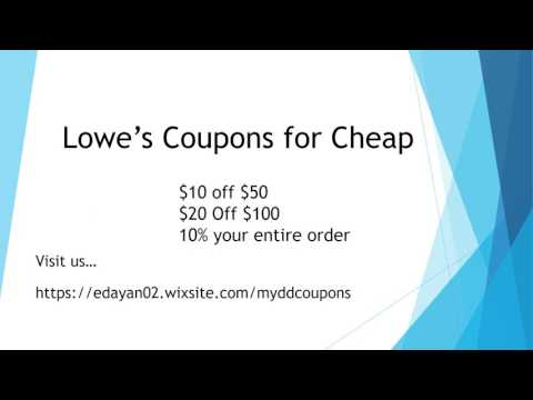 Lowe'S Coupons For Cheap - YT