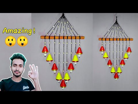Wall hanging craft ideas // DIY wind chime // wall hanging with paper